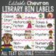 Library Labels: Chevron version