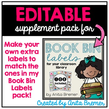 EDITABLE Library Labels