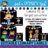 Editable Classroom Library Labels - Black