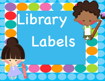 Library Labels Blue Dots