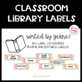 Classroom Library Labels--BY GENRE!