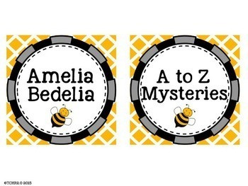 Bees Library Labels Editable