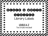 Library Labels - Black and White Stripes