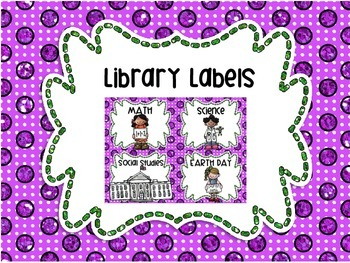 Library Labels By Topic or Category 31 Labels!