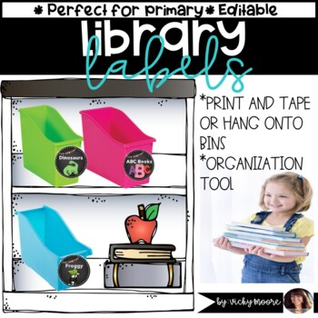 Library Labels { Chalkboard themed }