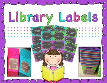 Library Labels - Chalkboard Brights!