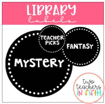 Library Labels- Circular/ Black and White Theme {Editable}