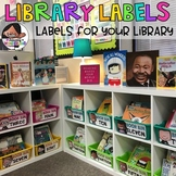 Classroom Library Labels | Editable Book and Bin Labels (K