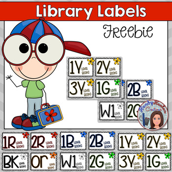 Library Labels Color Coded