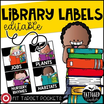 Square Library Labels EDITABLE