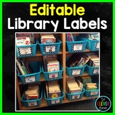 Library Labels - Editable