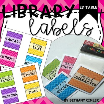 Library Labels | Editable