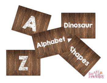 EDITABLE Labels - Wood Chalk