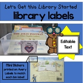Classroom Library Labels Editable with Matching Book Stickers