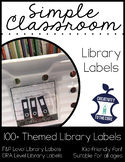Library Labels - Farmhouse or B&W