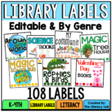 EDITABLE Classroom Library Labels by Genre