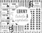 Library Labels & Genre Posters BUNDLE!  Black & White-- Editable