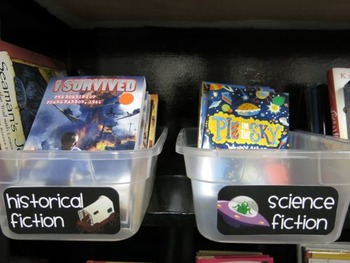 Library Labels - Genre Signs