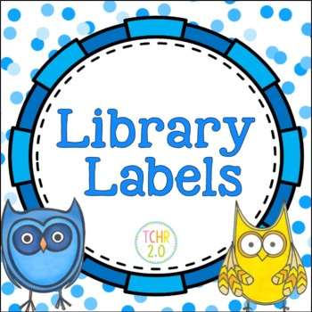 Owls Library Labels Editable