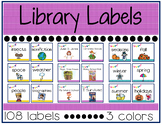 Library Labels {Purple, Turquoise, Yellow}