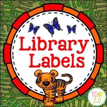 Rainforest Library Labels Editable