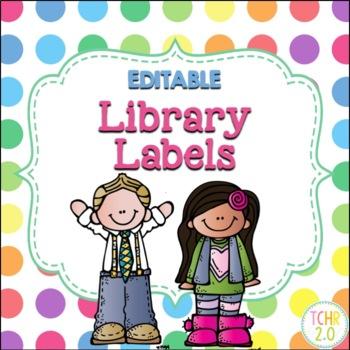 Melonheadz Library Labels Editable