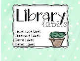 Library Labels - Water Color Cactus