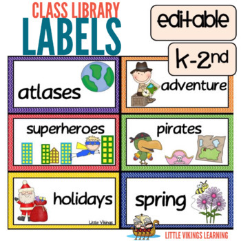 Library Labels Wavy Class Design