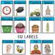Editable Classroom Labels ~ Light Blue