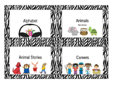 Library Labels - Zebra Print