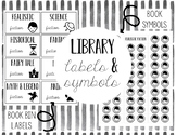 Library Labels & Book Symbols- Upper Elementary- Editable!