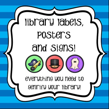 Library Labels and Signs - Genrify Your Library!