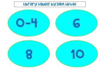 Library Labels by DRA Level (Blues & Lime Theme)
