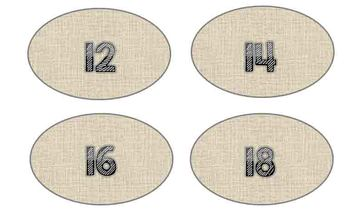 Library Labels by DRA Level (Burlap Theme)
