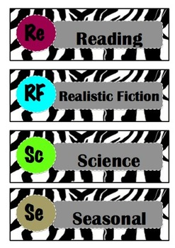 Library Labels by Genre