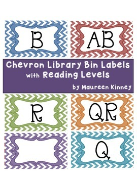 Library Labels by Reading Levels