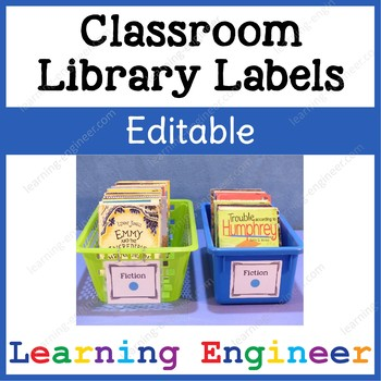 Editable Labels for Classroom Library