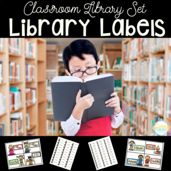 Library Labels for Book Baskets AND Books- Easy Organization!
