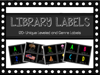Library Labels for Classroom Libraries or Book Bins