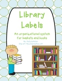 Library Labels for Little Ones
