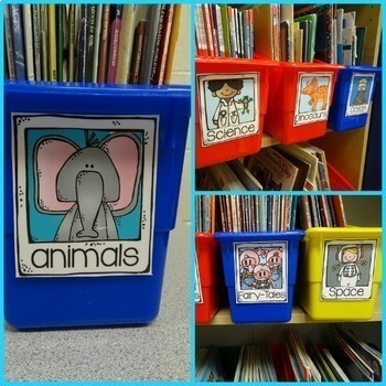 Library Labels for your Classroom with original bright labels