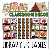Library Labels in a Camping Classroom Decor Theme