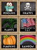 Library Labels in a Chalkboard and Burlap Classroom Decor Theme