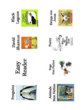 Library Labels with Pictures!