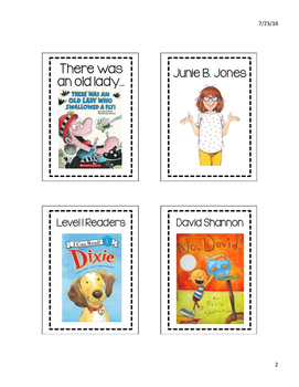 Library Labels with Pictures #2!