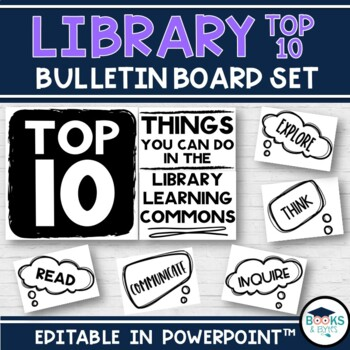 Library Learning Commons - Bulletin Board kit - Top 10 Things You Can Do!