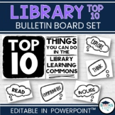 Library Bulletin Board Kit - Top 10 Things You Can Do!