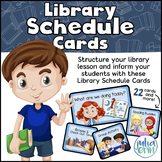 Library Schedule Cards (Daily Routine & Lesson Agenda)