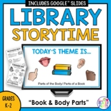 Library Lesson Parts of a Book | Storytime | Distance Learning