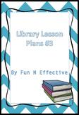Library Lesson Plan #3 Elementary School (Dewey Decimal Sy